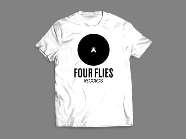 t-shirt four flies records 4
