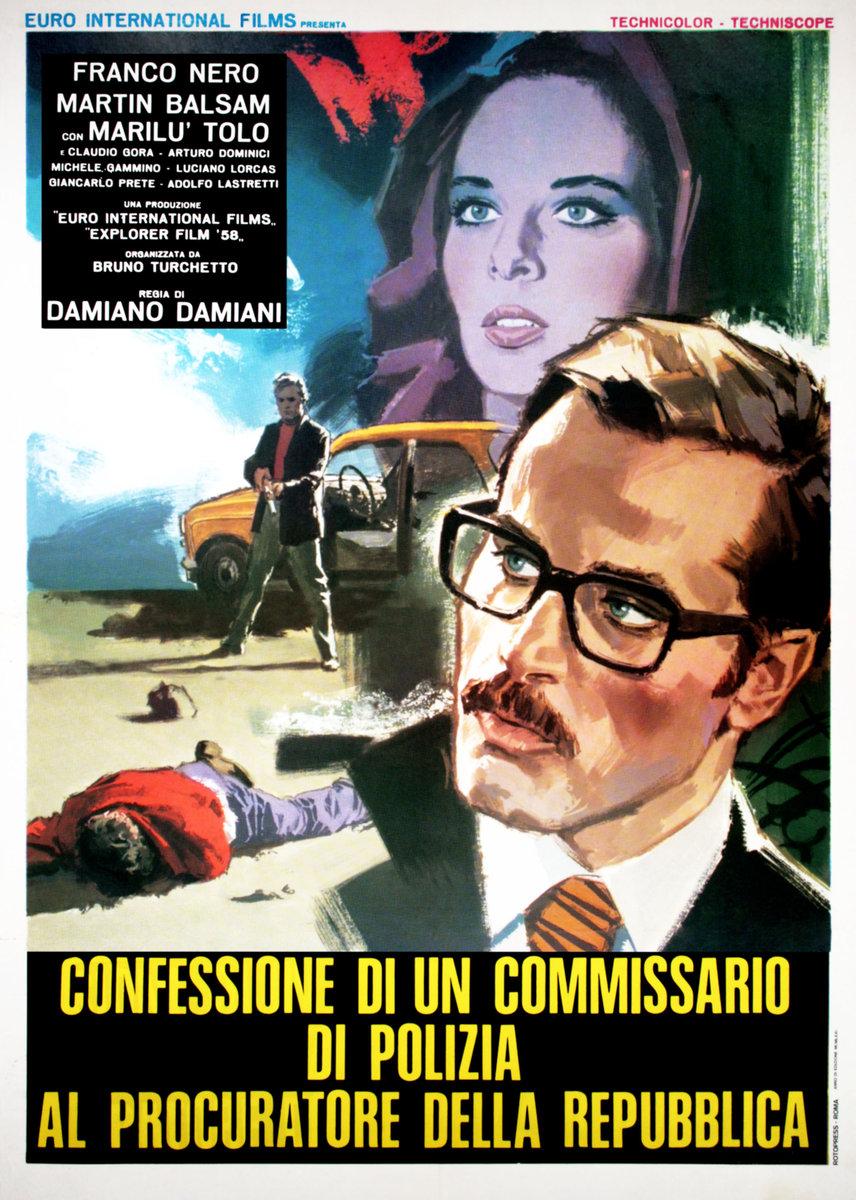 Poster Confessione di un commissario